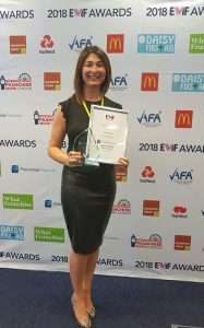 fiona simpson at the ewif awards winning woman franchisor of the year